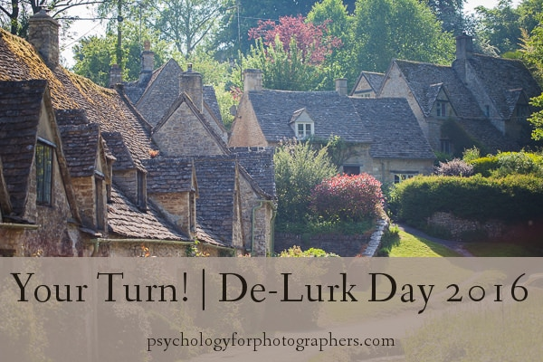 Your Turn! | De-Lurk Day 2016